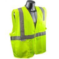 Class 2 Vest, Green, Mesh, Hook & Loop Closure