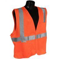 Class 2 Vest, Orange, Mesh, Hook & Loop Closure