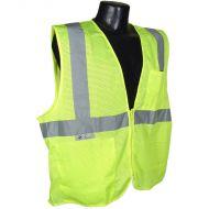 Class 2 Vest, Green, Mesh, Zipper