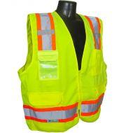 Class 2 Surveyor's Heavy Duty Vest, Green, Zipper